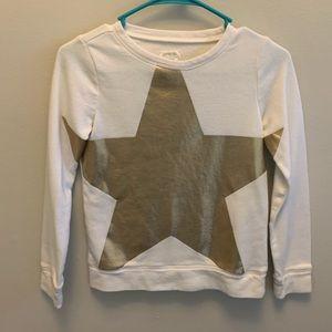 Crew Cuts Gold Star Sweatshirt